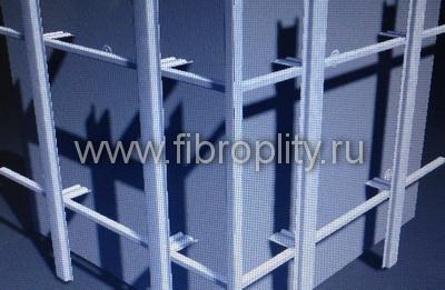 Облицовка фасадов металлический каркас