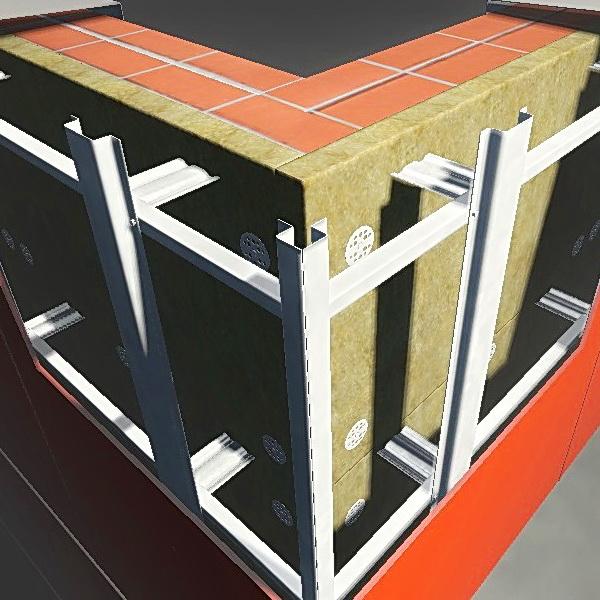 Отделка фиброцементными плитами, монтаж панелей на вентилируемый фасад